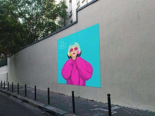 Etiquette mural, urbain, street