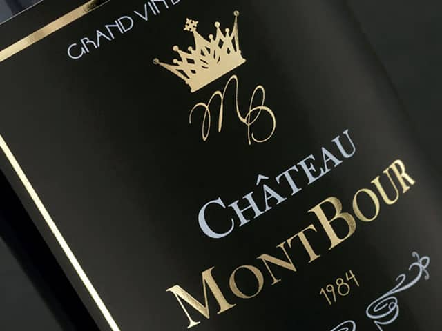 Etiquette-bouteille de vin, flacon, packaging- alcool, luxe, prestige, dorure