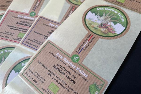 etiquette en papier kraft naturel
