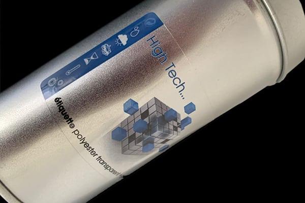 Etiquete polyester transparent