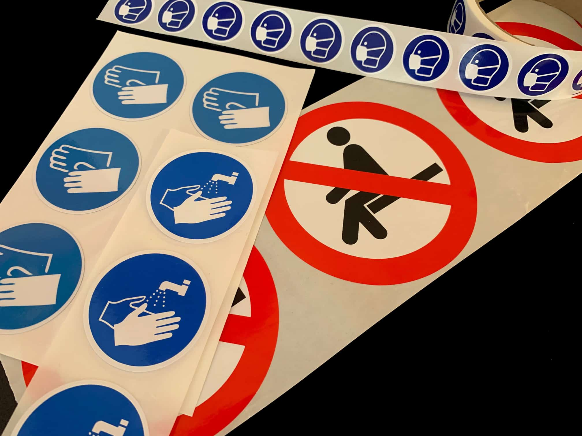 étiquette de signalisation et de prévention