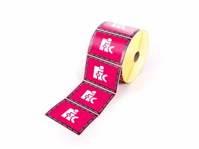 Etiquette-imprimée quadri -rouleau