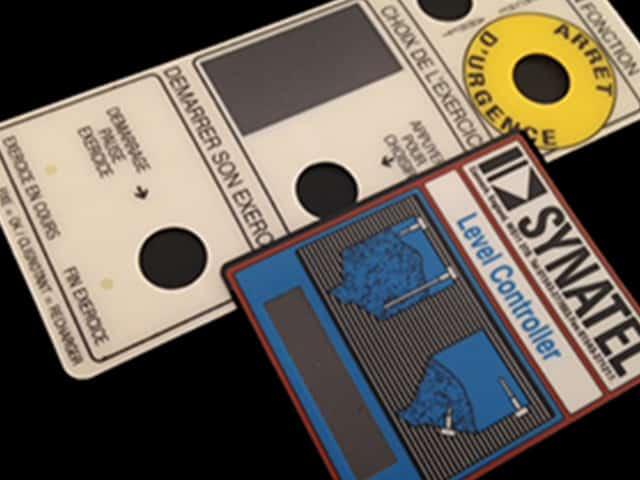 Etiquette adhésive-autocollante- face-avant- industriel- usine- technique
