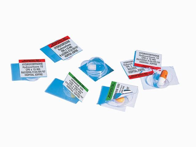 Etiquette adhésive-autocollante-medicament-medical- Santé-