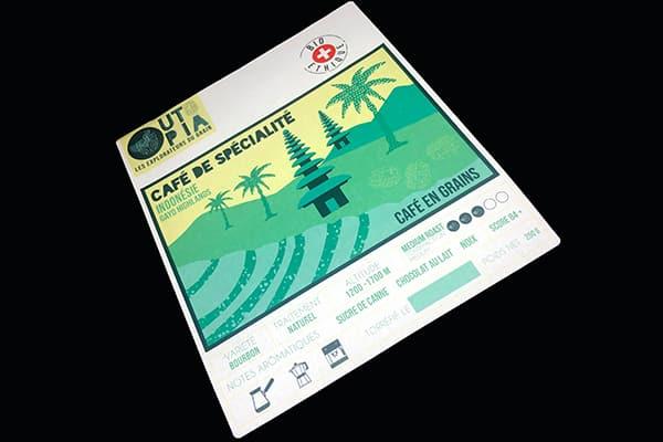 étiquette-emballage-imprimée quadri-papier recyclé