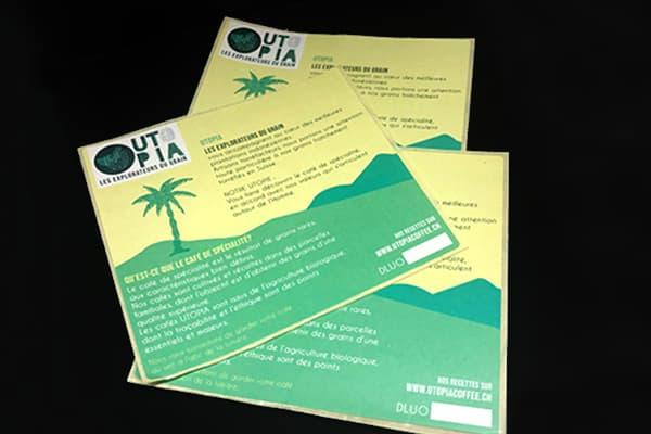 Etiquette papier recycle biosourcé