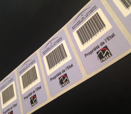 Etiquette adhésive-autocollante-proprieté- polypropylene