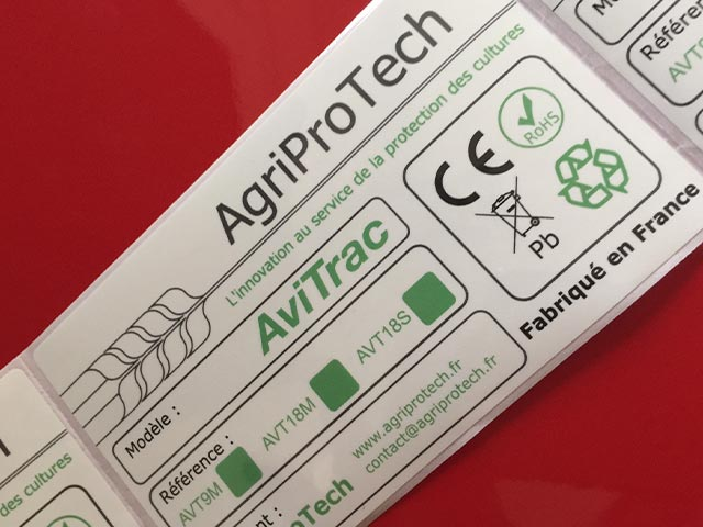 Etiquette adhésive - autocollante - synthétique - agriculture
