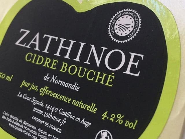 Etiquette Vernis sélectif - dorure - 3D - alcool- bouteille de cidre- adhésive- autocollante